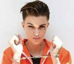 Ruby rose wearing handcuffs