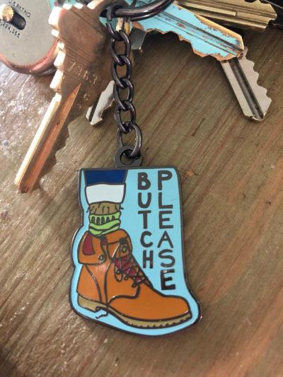 Butch Please Keychain